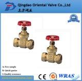 Válvula de Gaveta de água de Bronze latão 3pol pega roda para a indústria