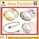 Anéis de guardanapo acrílicos desobstruídos quadrados simples