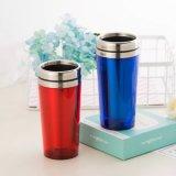 Изолированные двойником самые лучшие кружки кофеего перемещения с вкладышем нержавеющей стали и крышкой Flip