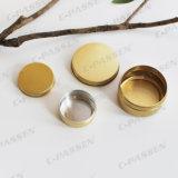 vaso di alluminio dorato 80g per l'imballaggio crema delle estetiche