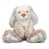 Les animaux mignons en gros ont bourré le long jouet de peluche de lapin de pattes de jouet mou