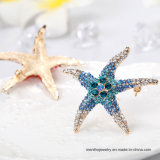 Monili animali belli multicolori del Brooch del Rhinestone di figura delle stelle marine di nuovo modo