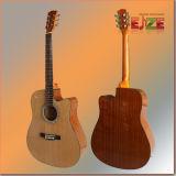 Guitarra popular de Sapele de picea cortada de 41 pulgadas