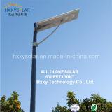 屋外保証5年の6-100Wカメラが付いている1つの統合された太陽LEDの街灯のすべて