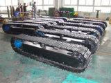 Oruga oruga/chasis de acero de la vía del tren de rodaje de la excavadora (o una grúa/compresor/plataforma de perforación, etc.).