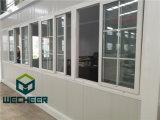 プレハブのオフィスとしてセリウムによって証明されるガラス壁の容器の家