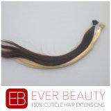 Extensões peruanas do cabelo humano de Remy com anel Nano