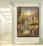 Olieverfschilderij van het Canvas van de Kunst van de Straat van Parijs van de Kunst van de Muur van Hotel&Homde het Decoratieve