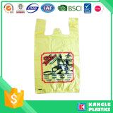 HDPE imprimió el bolso de la camiseta con usted poseer el logotipo