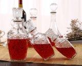 포도주를 위한 마개를 가진 250ml 중국 공장 다이아몬드 공간 유리병