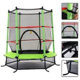 55 Inch Indoor Mini Trampoline with Safety Net