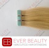 毛の拡張のRemyのインドの人間の毛髪の倍によって引かれるテープ