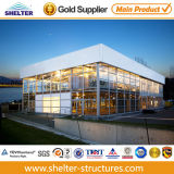 2015 Exhibition를 위한 Two Floor를 가진 Design 새로운 20X40 Durable Double 갑판 Glass Event Tent