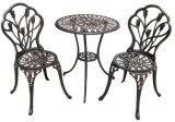 Таблица и стулы металла мебели сада