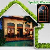 Специальные алюминиевые деревянные окна для вилла с китайского поставщика, колесной арки верхнее окно с эстетической разделить освещения ниши воздухозабора