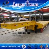 Трейлер кровати 3 Axles низкий с гидровлическим трапом складчатости