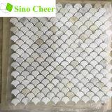 Mattonelle di mosaico di marmo bianche italiane della scala di pesci delle mattonelle di pavimento mini