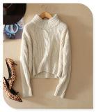 связанный 3gg пуловер верхней части кашемира свитера чисто с шеей экипажа и длинними втулками