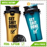 2 en 1 Twin Pack doble de plástico sin BPA Botella agitador