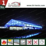 Водоустойчивый большой ясный шатер случая пяди с стеклянной дверью и окно для емкости 1000 людей