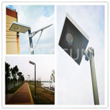 Lâmpada de rua solar Integrated do diodo emissor de luz, lâmpada ao ar livre 5W, 8W, 12W, 15W