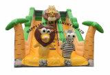 子供のためのライオン及びシマウマの膨脹可能なスライド