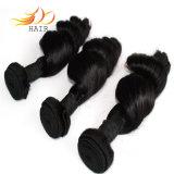 100%のビルマ人のバージンの人間の毛髪の緩い波のもつれの自由な毛の織り方