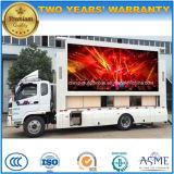 6 Tonnen mobile bekanntmachende Fahrzeug Foton wasserdichte LED Bildschirm-LKW-