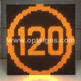 Optraffic Roadside Fixed Pole Mounted Variable Message Signs Vms Outdoor Full Color Display LED para controle de tráfego LED Advertising Display Board Trailer