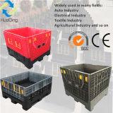 Standardzusammenklappbarer Plastikladeplatten-Behälter der bedingungs-1200X1000X1000