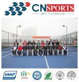 공장 최신 판매 고무에게 테니스 또는 농구 또는 배드민턴 Spu 스포츠 마루청을 깔기
