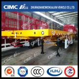 Cimc Huajun 14m Semi-remorque à plateau battant lourd à capacité 80 tonnes