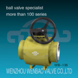 API 6D Fully Welded Full Port Ball Valve com Gearbox