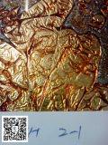 vetro della stagnola di oro di 3mm, vetro variopinto, vetro decorativo, prezzo più poco costoso