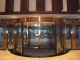 Comercial de ala automática de 2 Puerta giratoria con vitrinas