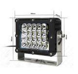 luz del trabajo del cuadrado LED de la MAZORCA 48W
