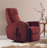 Цветастый стул рукоятки Recliner ткани