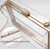 Sac d'embrayage acrylique transparent de sac de bourse de sac à main de soirée
