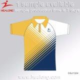 Healong China Hersteller-Kleidungs-Sublimation-Polyester-Polo-Hemd 100% für Verkauf