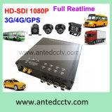H., 264 High Definition 4 Channel Car Mobile DVR mit 4G 3G GPS
