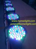 54 PCS RGB los 3in 1 disco a todo color de la luz de la etapa ligera de la IGUALDAD, boda, luz del partido