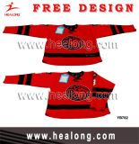 Logo Healong applique la sublimation de l'usure de Hockey sur glace