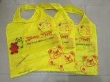昇進190tポリエステルカスタマイズされたロゴのFoldableショッピング・バッグ