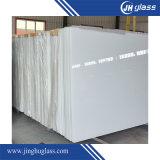 Vidro envernizado 5mm Ivory do branco para a decoração da parede, mobília