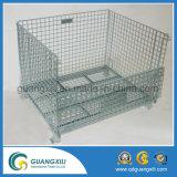 Jaula plegable galvanizada diseñada OEM del almacenaje del metal de la industria