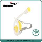 Nouveau design gratuit sèche pleine souffle plein visage masque tuba avec adaptateur pour appareil photo de sport