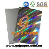 Design personnalisé Papier métallisé holographique de carton pour l'emballage