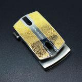 Hebilla automática del metal de la manera del acero inoxidable de la hebilla de correa del trinquete del oro de lujo para los hombres