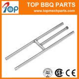 H personalizadas de forma Barbacoa Grill de gas de acero inoxidable de tubos de quemador