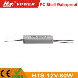12V 7A 80W Waterproof a fonte de alimentação do interruptor para o módulo do diodo emissor de luz